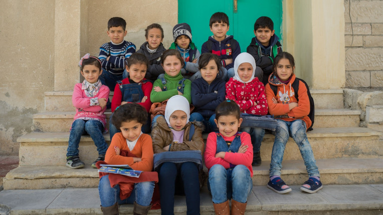 Syrian seven year olds in Jordan Lo